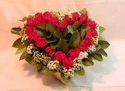 Ankara çiçekçiler  Kalp seklinde hazirlanmis gül tanzimi
