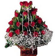 Ankara anneler günü çiçek yolla  12 gülden essiz sepet tanzimi