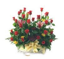 Ankara çiçek mağazası , çiçekçi adresleri  15 adet kirmizi gülden sepet tanzimi