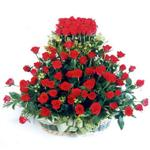 Ankara kaliteli taze ve ucuz çiçekler  41 adet kirmizi gülden sepet tanzimi