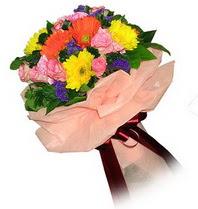 Ankara çiçekçi mağazası  Karisik mevsim çiçeklerinden demet