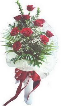 Ankara İnternetten çiçek siparişi  10 adet kirmizi gülden buket tanzimi özel anlara
