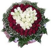 Ankara çiçek mağazası , çiçekçi adresleri  27 adet kirmizi ve beyaz gül sepet içinde