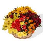 Ankara online çiçek gönderme sipariş  karisik mevsim çiçeklerinden aranjman