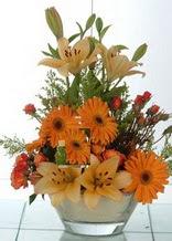 Ankara çiçek servisi , çiçekçi adresleri  cam yada mika vazo içinde karisik mevsim çiçekleri