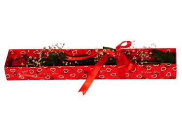 Ankara çiçekçi telefonları  kutu içerisinde 1 adet kirmizi gül
