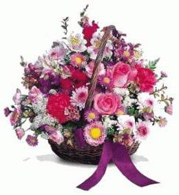 Ankara çiçek gönderme sitemiz güvenlidir  Karisik kir çiçeklerinden sepet tanzimi