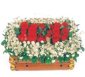 Ankara çiçek yolla  11 adet kirmizi gül sepeti