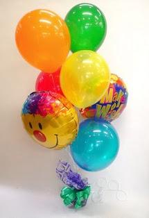 Ankara hediye çiçek yolla  17 adet uçan balon ve küçük kutuda çikolata