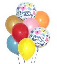 Ankara İnternetten çiçek siparişi  17 adet karisik renkte uçan balonlar
