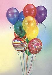 Ankara çiçek online çiçek siparişi  19 adet karisik renkte uçan balon buketi