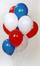 Ankara çiçekçiler  17 adet renkli karisik uçan balon buketi