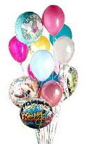 Ankara online çiçek gönderme sipariş  görsel kaliteli 17 uçan balon buketi tanzimleri