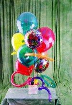Ankara güvenli kaliteli hızlı çiçek  karisik görüntüde renkli uçan balon buketi