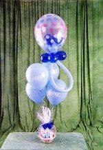 Ankara online çiçek gönderme sipariş  15 adet uçan balon ve küçük kutuda çikolata