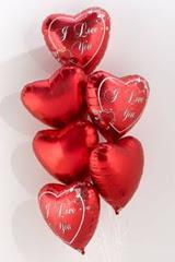 Ankara hediye çiçek yolla  6 adet kirmizi folyo kalp uçan balon buketi