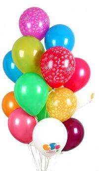 Ankara İnternetten çiçek siparişi  30 adet uçan balon buketi demeti renkli