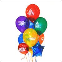 Ankara çiçek yolla , çiçek gönder , çiçekçi   21 adet renkli uçan balon hediye ürünü