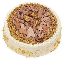 Karamelli 4 ile 6 kisilik yas pasta  Ankara çiçek yolla