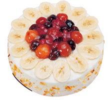 Meyvali 4 ile 6 kisilik yas pasta leziz  Ankara ucuz çiçek gönder