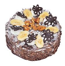 Muzlu çikolatali yas pasta 4 ile 6 kisilik   Ankara uluslararası çiçek gönderme
