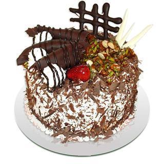4 ile 6 kisilik çikolatali yas pasta  Ankara kaliteli taze ve ucuz çiçekler
