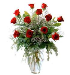 Vazo içerisinde 11 kirmizi gül  Ankara çiçek siparişi vermek