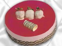 pasta siparisi 4 ile 6 kisilik yas pasta çilekli yaspasta  Ankara çiçek servisi , çiçekçi adresleri
