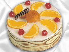 lezzetli pasta satisi 4 ile 6 kisilik yas pasta portakalli pasta  Ankara çiçekçi mağazası