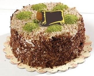 pasta gönderme 4 ile 6 kisilik çikolatali yas pasta  Ankara çiçek satışı