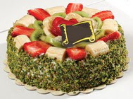 pasta gönder  4 ile 6 kisilik karisik meyvali yas pasta  Ankara internetten çiçek siparişi
