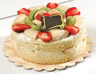 pasta siparisi 4 ile 6 kisilik karisik meyvali yas pasta  Ankara çiçek servisi , çiçekçi adresleri