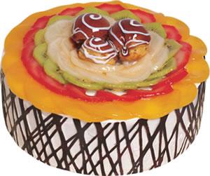 pasta siparisi 4 ile 6 kisilik meyvali yas pasta  Ankara çiçek satışı