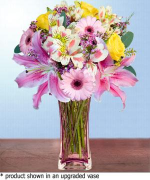 Anneme hediye karisik cam mevsim demeti  Ankara internetten çiçek siparişi