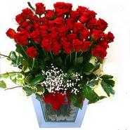Ankara internetten çiçek siparişi   51 adet kirmizi gül aranjmani
