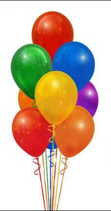 12 adet renkli uçan balon - dogum parti süslemeler