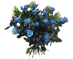 Ankara hediye çiçek yolla  9 mavi gül güzel bir buket