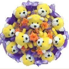 11 adet pelus ayicik buketi  Ankara çiçek mağazası , çiçekçi adresleri
