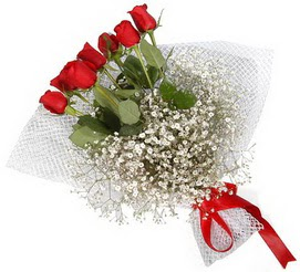 7 adet essiz kalitede kirmizi gül buketi  Ankara hediye sevgilime hediye çiçek