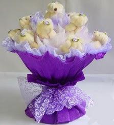 15 adet ayiciktan ayi buketi  Ankara güvenli kaliteli hızlı çiçek