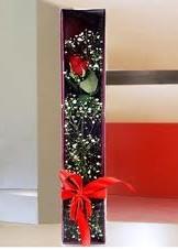 kutu içinde tek kirmizi gül  Ankara çiçek online çiçek siparişi