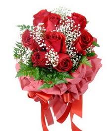 9 adet en kaliteli gülden kirmizi buket  Ankara çiçek servisi , çiçekçi adresleri