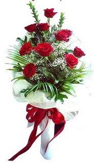 Ankara ucuz çiçek gönder  10 adet kirmizi gül buketi demeti