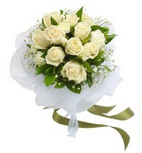 Ankara online çiçekçi , çiçek siparişi  11 adet benbeyaz güllerden buket