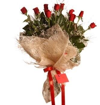 Ankara çiçek servisi , çiçekçi adresleri  10 adet kırmızı gülden görsel buket
