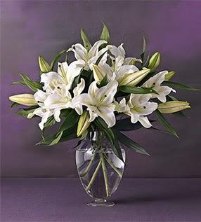 Ankara hediye çiçek yolla  4 dal cazablanca vazo çiçeği