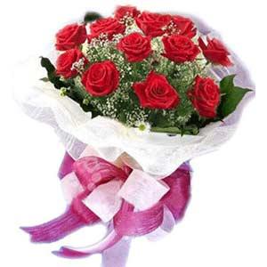 Ankara çiçek satışı  11 adet kırmızı güllerden buket modeli