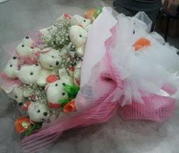 Ankara internetten çiçek siparişi  21 adet ayıcıktan ayı buketi