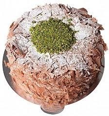4 ile 6 kişilik çikolatalı Fıstıklı yaş pasta
