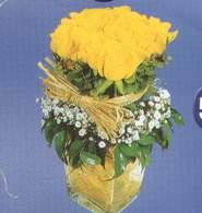 Ankara anneler günü çiçek yolla  Cam vazoda 9 Sari gül